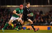 17 November 2018; Beauden Barrett of New Zealand during the Guinness Series International match between Ireland and New Zealand at the Aviva Stadium in Dublin. Photo by Ramsey Cardy/Sportsfile
