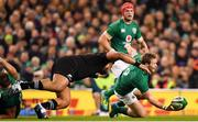 17 November 2018; Kieran Marmion of Ireland in action against Nepo Laulala of New Zealand during the Guinness Series International match between Ireland and New Zealand at the Aviva Stadium in Dublin. Photo by Ramsey Cardy/Sportsfile