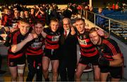 18 November 2018; Ballygunner supporter Pat O'Sullivan celebrates with his grandsons Mikey Mahony, Tadhg Foley, Philip Mahony, Pauric Mahony, and Barry O'Sullivan after the AIB Munster GAA Hurling Senior Club Championship Final between Na Piarsaigh and Ballygunner at Semple Stadium in Thurles, Co. Tipperary. Photo by Diarmuid Greene/Sportsfile
