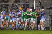 18 November 2018; Players from both sides tussle during the AIB Leinster GAA Hurling Senior Club Championship semi-final match between Ballyboden St Enda's and Coolderry at Parnell Park in Dublin. Photo by Sam Barnes/Sportsfile