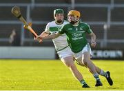 18 November 2018; Aodhan Doyle of Naomh Éanna in action against Evan Shefflin of Ballyhale Shamrocks during the AIB Leinster GAA Hurling Senior Club Championship semi-final match between Naomh Éanna and Ballyhale Shamrocks at Innovate Wexford Park in Wexford. Photo by Matt Browne/Sportsfile