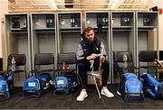 18 November 2018; Peter Duggan of Clare grips his hurley in the dressing room before the Aer Lingus Fenway Hurling Classic 2018 semi-final match between Clare and Cork at Fenway Park in Boston, MA, USA. Photo by Piaras Ó Mídheach/Sportsfile
