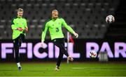 18 November 2018; Darren Randolph, right, and Caoimhin Kelleher during a Republic of Ireland training session at Ceres Park in Aarhus, Denmark. Photo by Stephen McCarthy/Sportsfile