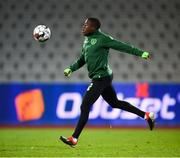 18 November 2018; Michael Obafemi during a Republic of Ireland training session at Ceres Park in Aarhus, Denmark. Photo by Stephen McCarthy/Sportsfile
