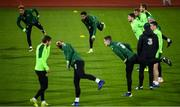 18 November 2018; Cyrus Christie and Callum Robinson, top left, during a Republic of Ireland training session at Ceres Park in Aarhus, Denmark. Photo by Stephen McCarthy/Sportsfile