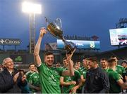 18 November 2018; Limerick captain Declan Hannon lifts the Players Champions Cup after winning the Aer Lingus Fenway Hurling Classic 2018 Final match between Cork and Limerick at Fenway Park in Boston, MA, USA. Photo by Piaras Ó Mídheach/Sportsfile