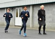 19 November 2018; The Daily Mile founder Elaine Wyllie taking part in The Daily Mile with students from Scoil Na Mainistreach at The Daily Mile Launch Kildare at Scoil Na Mainistreach in Celbridge, Co Kildare. Photo by Eóin Noonan/Sportsfile