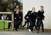 19 November 2018; Students from Scoil Na Mainistreach taking part in The Daily Mile at The Daily Mile Launch Kildare at Scoil Na Mainistreach in Celbridge, Co Kildare. Photo by Eóin Noonan/Sportsfile