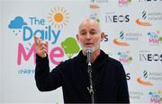 19 November 2018; Ray D'Arcy, RTE Radio DJ speaking at The Daily Mile Launch Kildare at Scoil Na Mainistreach in Celbridge, Co Kildare. Photo by Eóin Noonan/Sportsfile