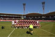11 November 2018; A photographer takes a picture of the Galway squad before the Wild Geese Cup match between Galway and Kilkenny at Spotless Stadium in Sydney, Australia. Photo by Ray McManus/Sportsfile