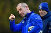 19 November 2018; Senior coach Stuart Lancaster during Leinster Rugby squad training at UCD in Dublin. Photo by Ramsey Cardy/Sportsfile