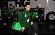 19 November 2018; Seamus Coleman of Republic of Ireland arrives prior to the UEFA Nations League B match between Denmark and Republic of Ireland at Ceres Park in Aarhus, Denmark. Photo by Stephen McCarthy/Sportsfile