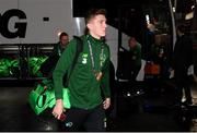 19 November 2018; Jimmy Dunne of Republic of Ireland arrives prior to the UEFA Nations League B match between Denmark and Republic of Ireland at Ceres Park in Aarhus, Denmark. Photo by Stephen McCarthy/Sportsfile