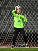 19 November 2018; Darren Randolph of Republic of Ireland warms up prior to the UEFA Nations League B match between Denmark and Republic of Ireland at Ceres Park in Aarhus, Denmark. Photo by Stephen McCarthy/Sportsfile