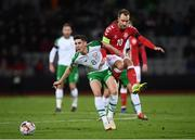 19 November 2018; Callum O'Dowda of Republic of Ireland in action against Christian Eriksen of Denmark during the UEFA Nations League B match between Denmark and Republic of Ireland at Ceres Park in Aarhus, Denmark. Photo by Stephen McCarthy/Sportsfile