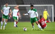19 November 2018; Cyrus Christie of Republic of Ireland in action against Lasse Schöne of Denmark during the UEFA Nations League B match between Denmark and Republic of Ireland at Ceres Park in Aarhus, Denmark. Photo by Stephen McCarthy/Sportsfile
