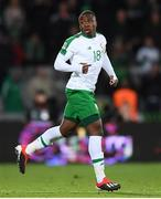 19 November 2018; Michael Obafemi of Republic of Ireland comes on as a second half substitute to make his international debut during the UEFA Nations League B match between Denmark and Republic of Ireland at Ceres Park in Aarhus, Denmark. Photo by Stephen McCarthy/Sportsfile