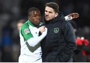 19 November 2018; Michael Obafemi, left, and Robbie Brady of Republic of Ireland after the UEFA Nations League B match between Denmark and Republic of Ireland at Ceres Park in Aarhus, Denmark. Photo by Stephen McCarthy/Sportsfile