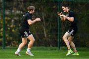 19 November 2018; Liam Turner, left, and Jack Kelly during Leinster Rugby squad training at UCD in Dublin. Photo by Ramsey Cardy/Sportsfile
