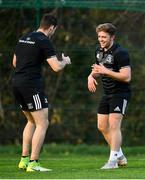 19 November 2018; Liam Turner, right, and Jack Kelly during Leinster Rugby squad training at UCD in Dublin. Photo by Ramsey Cardy/Sportsfile