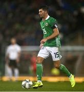 18 November 2018; Jordan Jones of Northern Ireland during the UEFA Nations League match between Northern Ireland and Austria at the National Football Stadium in Windsor Park, Belfast. Photo by David Fitzgerald/Sportsfile