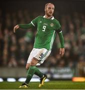 18 November 2018; Liam Boyce of Northern Ireland during the UEFA Nations League match between Northern Ireland and Austria at the National Football Stadium in Windsor Park, Belfast. Photo by David Fitzgerald/Sportsfile