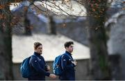 20 November 2018; Andrew Porter, left, and Joey Carbery arrive for Ireland Rugby squad training at Carton House in Maynooth, Co Kildare. Photo by Ramsey Cardy/Sportsfile