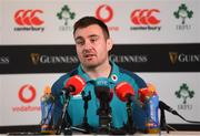 20 November 2018; Niall Scannell during an Ireland Rugby press conference at Carton House in Maynooth, Co Kildare. Photo by Ramsey Cardy/Sportsfile