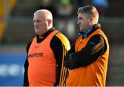 18 November 2018; Crossmaglen Rangers Joint Managers Donal Murtagh and Kieran Donnelly before the AIB Ulster GAA Football Senior Club Championship semi-final match between Crossmaglen Rangers and Gaoth Dobhair at Healy Park in Omagh, Tyrone. Photo by Oliver McVeigh/Sportsfile