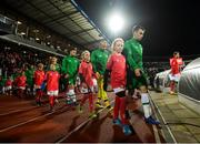 19 November 2018; Seamus Coleman of Republic of Ireland leads his side out during the UEFA Nations League B group four match between Denmark and Republic of Ireland at Ceres Park in Aarhus, Denmark. Photo by Stephen McCarthy/Sportsfile