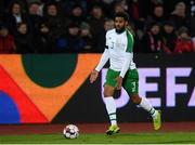 19 November 2018; Cyrus Christie of Republic of Ireland during the UEFA Nations League B group four match between Denmark and Republic of Ireland at Ceres Park in Aarhus, Denmark. Photo by Stephen McCarthy/Sportsfile