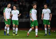 19 November 2018; Republic of Ireland players, from left, Shane Duffy, Enda Stevens, Jeff Hendrick and Kevin Long during the UEFA Nations League B group four match between Denmark and Republic of Ireland at Ceres Park in Aarhus, Denmark. Photo by Stephen McCarthy/Sportsfile