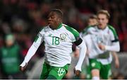 19 November 2018; Michael Obafemi of Republic of Ireland during the UEFA Nations League B group four match between Denmark and Republic of Ireland at Ceres Park in Aarhus, Denmark. Photo by Stephen McCarthy/Sportsfile