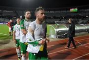 19 November 2018; Richard Keogh of Republic of Ireland leaves the pitch following the UEFA Nations League B group four match between Denmark and Republic of Ireland at Ceres Park in Aarhus, Denmark. Photo by Stephen McCarthy/Sportsfile