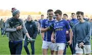 18 November 2018; Shane Carey, left, and Damien McArdle of Scotstown celebrate coming off the field after the AIB Ulster GAA Football Senior Club Championship semi-final match between Eoghan Rua Coleraine and Scotstown at Healy Park in Omagh, Tyrone. Photo by Oliver McVeigh/Sportsfile