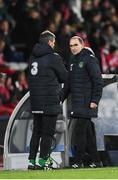 19 November 2018; Republic of Ireland manager Martin O'Neill and assistant manager Roy Keane during the UEFA Nations League B group four match between Denmark and Republic of Ireland at Ceres Park in Aarhus, Denmark. Photo by Stephen McCarthy/Sportsfile