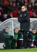 19 November 2018; Republic of Ireland manager Martin O'Neill during the UEFA Nations League B group four match between Denmark and Republic of Ireland at Ceres Park in Aarhus, Denmark. Photo by Stephen McCarthy/Sportsfile