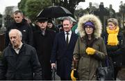 21 November 2018; Dublin senior football manager Jim Gavin walks with the procession to the unveiling of a memorial headstone to Bloody Sunday victim John William Scott who was shot and killed aged 14 at Croke Park at Glasnevin Cemetery in Dublin. Photo by David Fitzgerald/Sportsfile