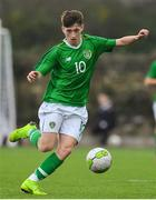 16 November 2018; Louie Barry of Republic of Ireland during the U16 Victory Shield match between Republic of Ireland and Scotland at Mounthawk Park in Tralee, Kerry. Photo by Brendan Moran/Sportsfile