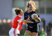 18 November 2018; Amy Connolly of Foxrock-Cabinteely in action against Sharon Courtney of Donaghmoyne during the All-Ireland Ladies Senior Club Football Championship Semi-Final 2018 match between Foxrock-Cabinteely and Donaghmoyne at Bray Emmets GAA Club in Bray, Wicklow. Photo by Brendan Moran/Sportsfile