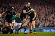 17 November 2018; Brodie Retallick of New Zealand during the Guinness Series International match between Ireland and New Zealand at Aviva Stadium, Dublin. Photo by Brendan Moran/Sportsfile