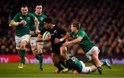 17 November 2018; Rieko Ioane of New Zealand is tackled by Kieran Marmion and Keith Earls of Ireland during the Guinness Series International match between Ireland and New Zealand at Aviva Stadium, Dublin. Photo by Brendan Moran/Sportsfile