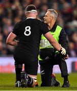 17 November 2018; Kieran Read of New Zealand receives medical attention during the Guinness Series International match between Ireland and New Zealand at Aviva Stadium, Dublin. Photo by Brendan Moran/Sportsfile