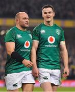 17 November 2018; Rory Best, left, and Jonathan Sexton of Ireland after the Guinness Series International match between Ireland and New Zealand at Aviva Stadium, Dublin. Photo by Brendan Moran/Sportsfile