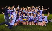 21 November 2018; University College Dublin players celebrate with the cup after the Gourmet Food Parlour HEC Ladies Division 1 League Final 2018 match between University College Dublin and University of Limerick at Stradbally in Laois. Photo by Matt Browne/Sportsfile