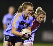 21 November 2018; Chloe Foxe of University College Dublin in action against Shauna Molloy of University of Limerick during the Gourmet Food Parlour HEC Ladies Division 1 League Final 2018 match between University College Dublin and University of Limerick at Stradbally in Laois. Photo by Matt Browne/Sportsfile