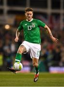 15 November 2018; Jeff Hendrick of Republic of Ireland during the International Friendly match between Republic of Ireland and Northern Ireland at the Aviva Stadium in Dublin. Photo by Harry Murphy/Sportsfile