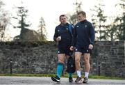 22 November 2018; CJ Stander, left, and Josh van der Flier arrive to Ireland rugby squad training at Carton House in Maynooth, Kildare. Photo by Eóin Noonan/Sportsfile