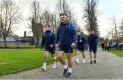 22 November 2018; Andrew Porter, left, and Finlay Bealham arrive for Ireland rugby squad training at Carton House in Maynooth, Kildare. Photo by Brendan Moran/Sportsfile