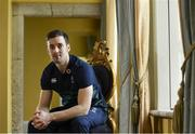 22 November 2018; Darren Sweetnam poses for a portrait following an Ireland rugby squad press conference at Carton House in Maynooth, Kildare. Photo by Eóin Noonan/Sportsfile